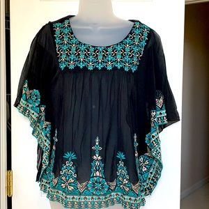 Sheer Embroidered INC Top